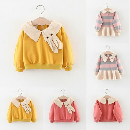 Toddler Baby Girl Autumn Winter Casual Sweatshirt Infant Long Sleeve T-Shirt Tops