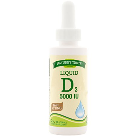 Natures Truth Vitamin D Liquid 5000IU 2 Fluid Ounce Each ()