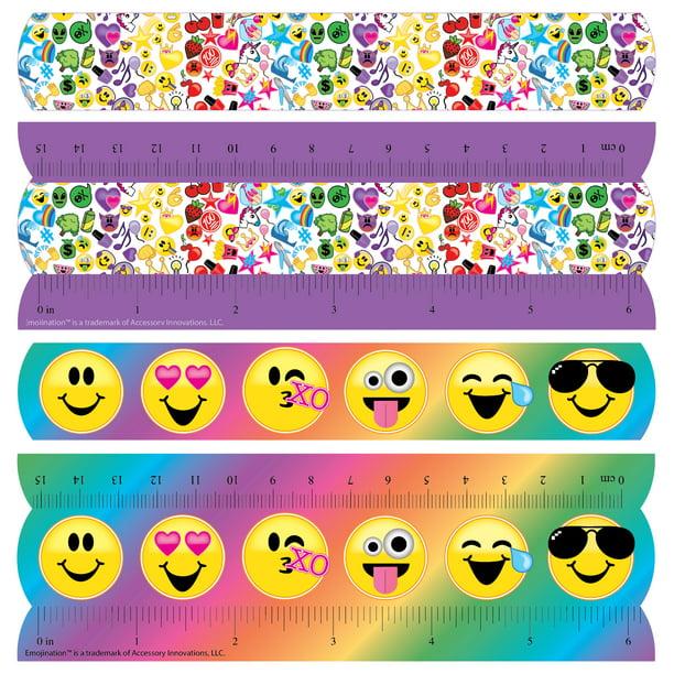 Emojination Emoji Nation Slap Bracelet 4 Count Walmart Com Walmart Com