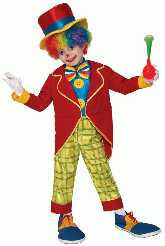 Clown Girls Fancy Dress Carnival Circus Funny Novelty Childrens Kids Costume New
