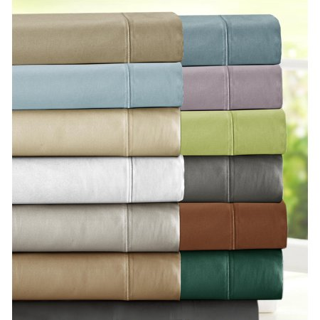 1000 Thread Count Luxury Egyptian Cotton Rich Sateen Sheet Set, -