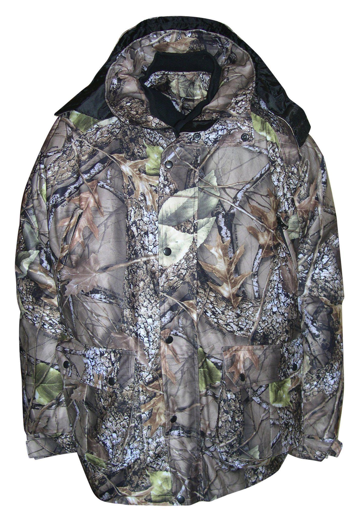 Mens WFS Burly Camo 4in1 Waterproof Breathable Insulated Hooded Parka L 6X by