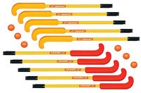 DOM SuperSafe Field Hockey Set, Includes 10 Sticks and 6 DOM-83 Balls by Dom Sports And Games