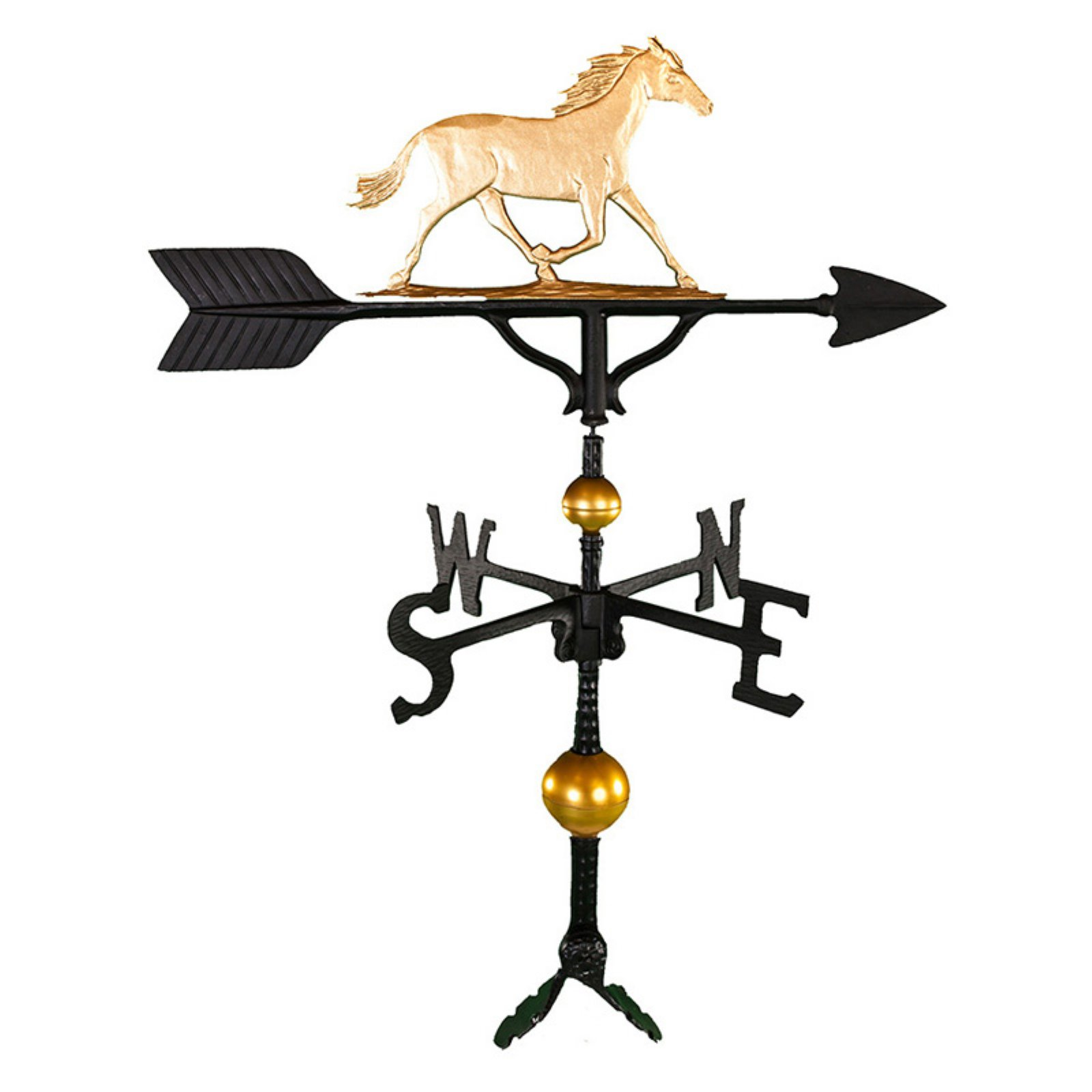 Deluxe Gold Horse Weathervane 32 in. by Montague Metal Products