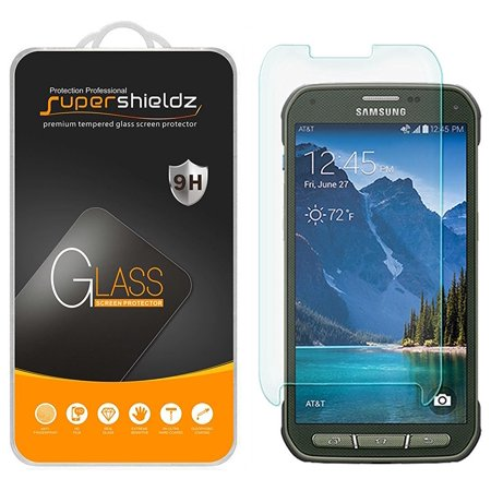 [2-Pack] Supershieldz for Samsung Galaxy S5 Active Tempered Glass Screen Protector, Anti-Scratch, Anti-Fingerprint, Bubble