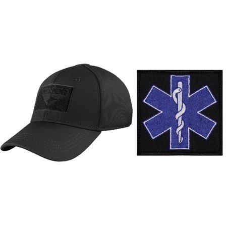 Condor Flex Stealth Black Cap Small Medium + EMT PATCH 3