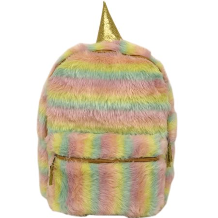 Stay Magical Fur Backpack - Sequin Pink Backpack