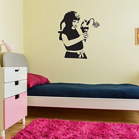 Ice Cream Bomb Banksy Wall Decal - Wall Sticker, Vinyl Wall Art ...