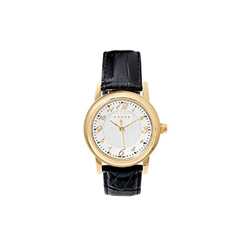 Cross Chicago Collection Mens Embossed Leather Watch by