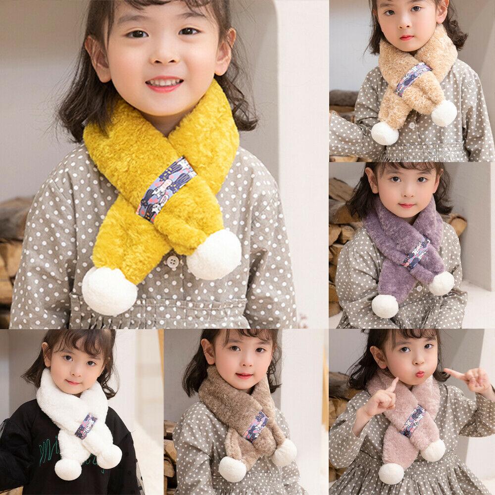 kids Scarves or Wraps SUNSIOM - SUNSIOM Kids Girl Scarf Plush Scarves Imitation Rabbit Fur Cute  Winter Neckerchief Wraps - Walmart.com - Walmart.com