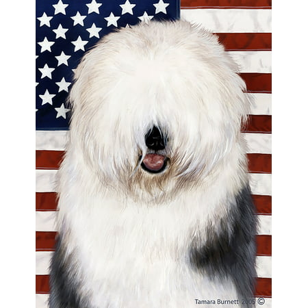 Old English Sheepdog - Best of Breed  Patriotic II Garden Flags