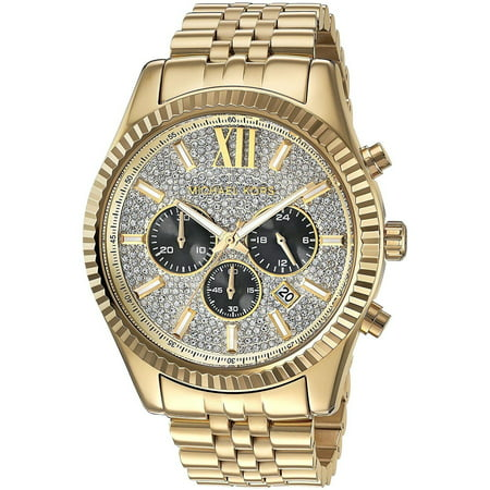 Michael Kors Mens (Men's Gold-Tone Lexington Chronograph Watch)