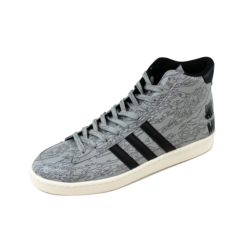 Adidas Men's Jabbar Mid Undefeated X MHI Black White-Orange B33982 by