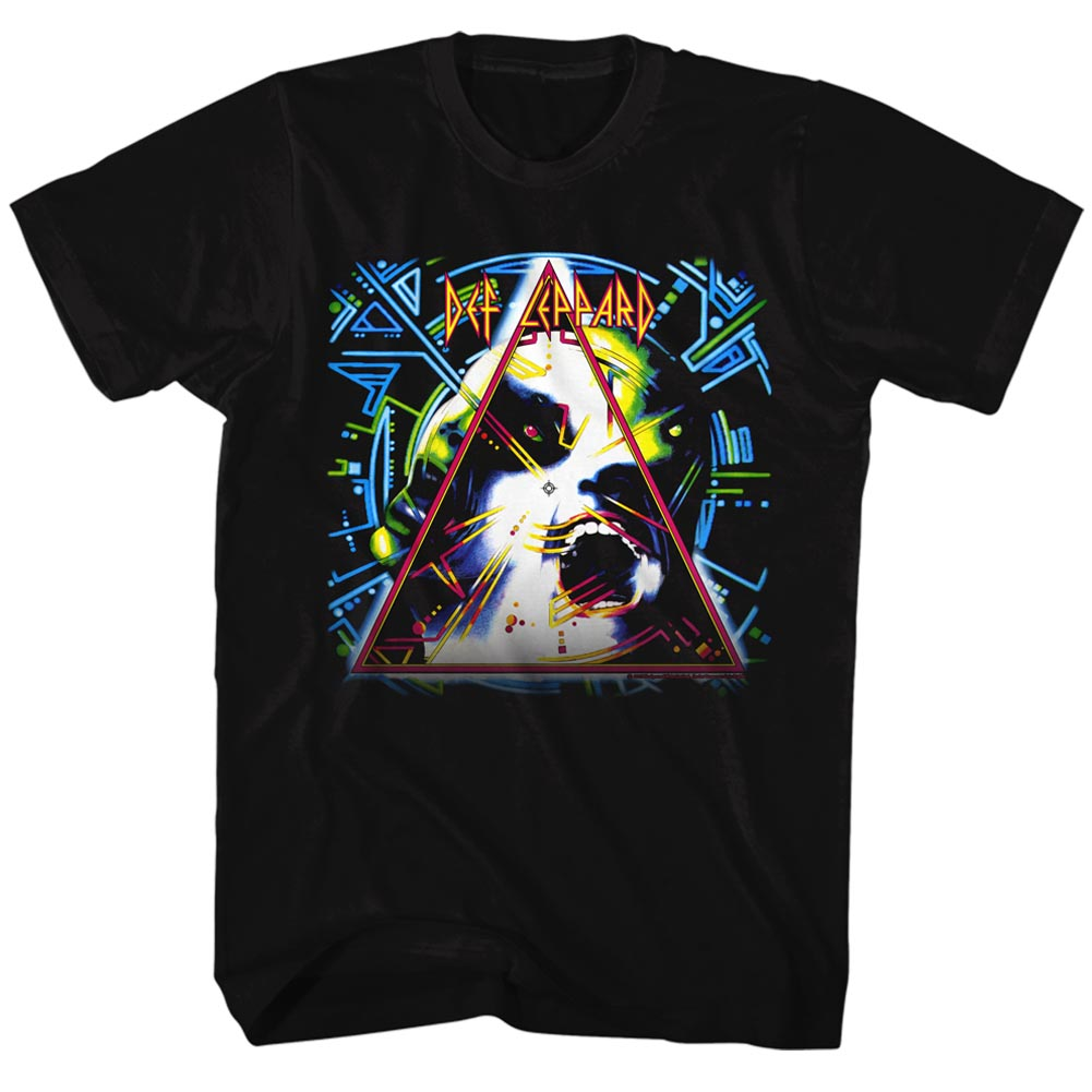 Def Leppard 80s Heavy Metal Band Hysteria Rock n Roll Triangle Adult T-Shirt - image 1 de 1