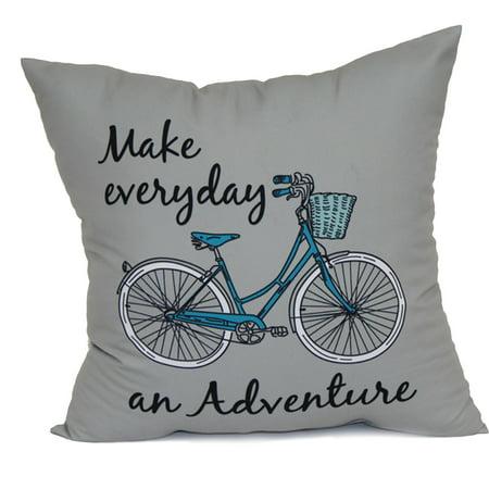 Mainstays Pillow  Gray Bike