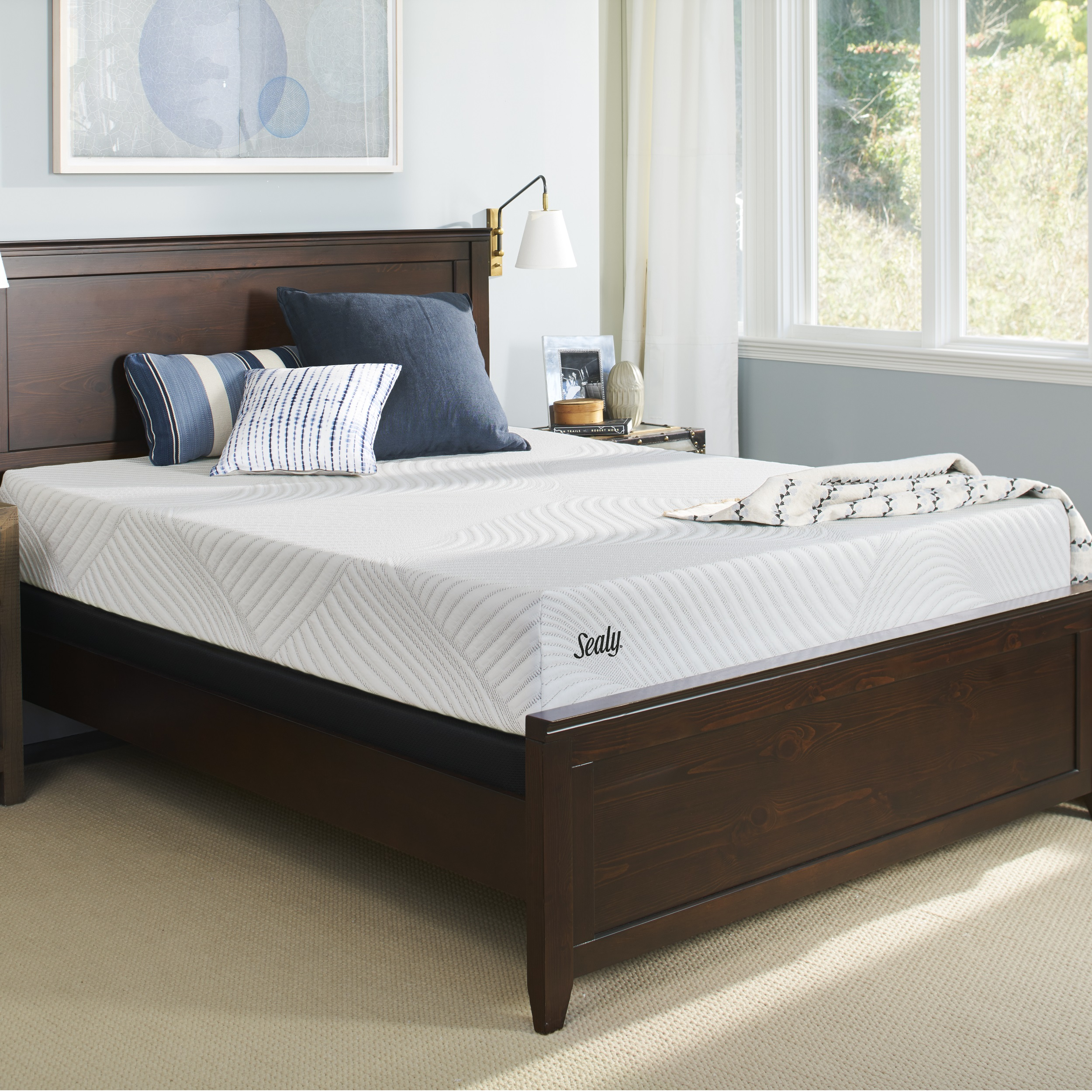 """Sealy Conform Essentials 10.5"""" Cushion Firm Mattress with High Profile Foundation Set by Sealy"""