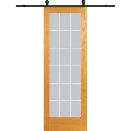 Verona Home Design Wood 1 Panel Natural Interior Barn Door
