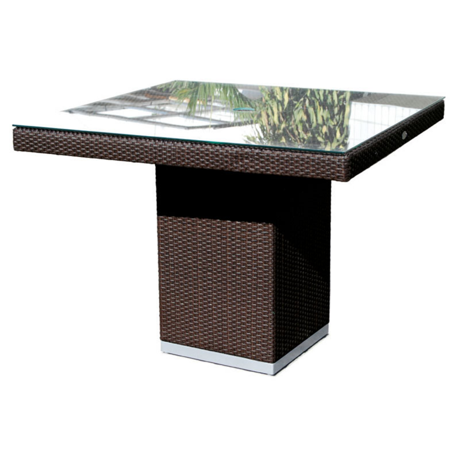 Hospitality Rattan Sydney Square Dining Table with Optional Glass Top