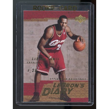 Upper Deck Sp Prospects Card (2003-04 Upper Deck Lebron's Diary Lebron James #LJ13 Rookie Card)