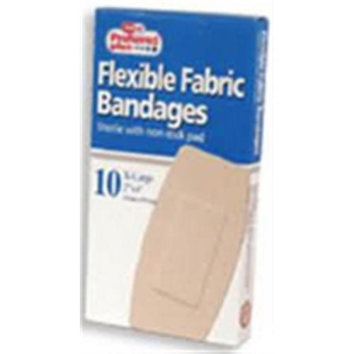 Bandages Flexible Fabric, Extra Large 2 Inches x 4 Inches 10 ea (Pack of 3)