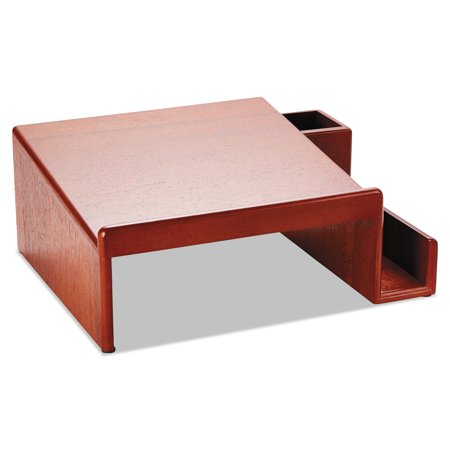 Rolodex Wood Tones Phone Center Desk Stand  12 1 8 X 10  Mahogany