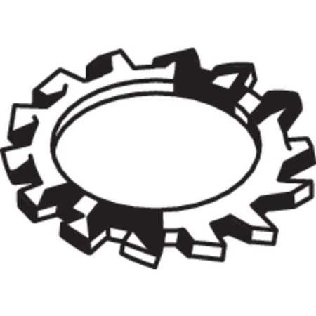 """FABORY #4 x 0.245"""" OD 410 Stainless Steel Finish External Tooth Type A Lock Washers, 50 pk., U53460.011.0001"""