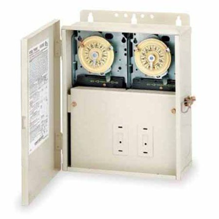 Intermatic T10404R Two Timers in One for Pool or Spa