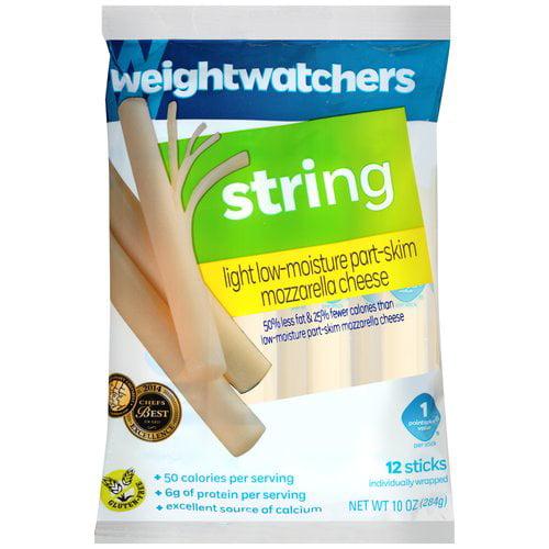 Weight Watchers Light Mozzarella String Cheese, 12 count, 10 oz