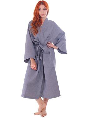 Product Image Men   Women s Cotton Honeycomb Waffle Kimono Bath Robe with  Pockets 7eb4ab612
