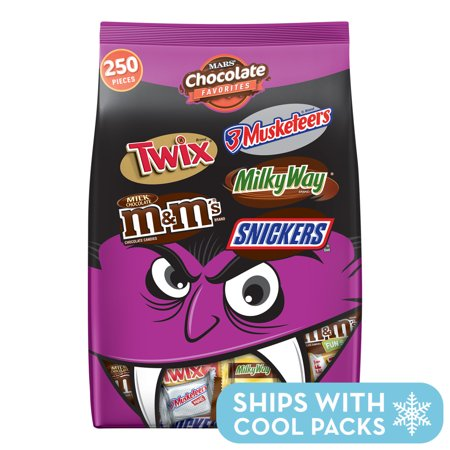 Mars Chocolate Favorites Candy Bars Variety Mix, 96.2 Oz, 250 Ct - Chocolate Crinkles For Halloween