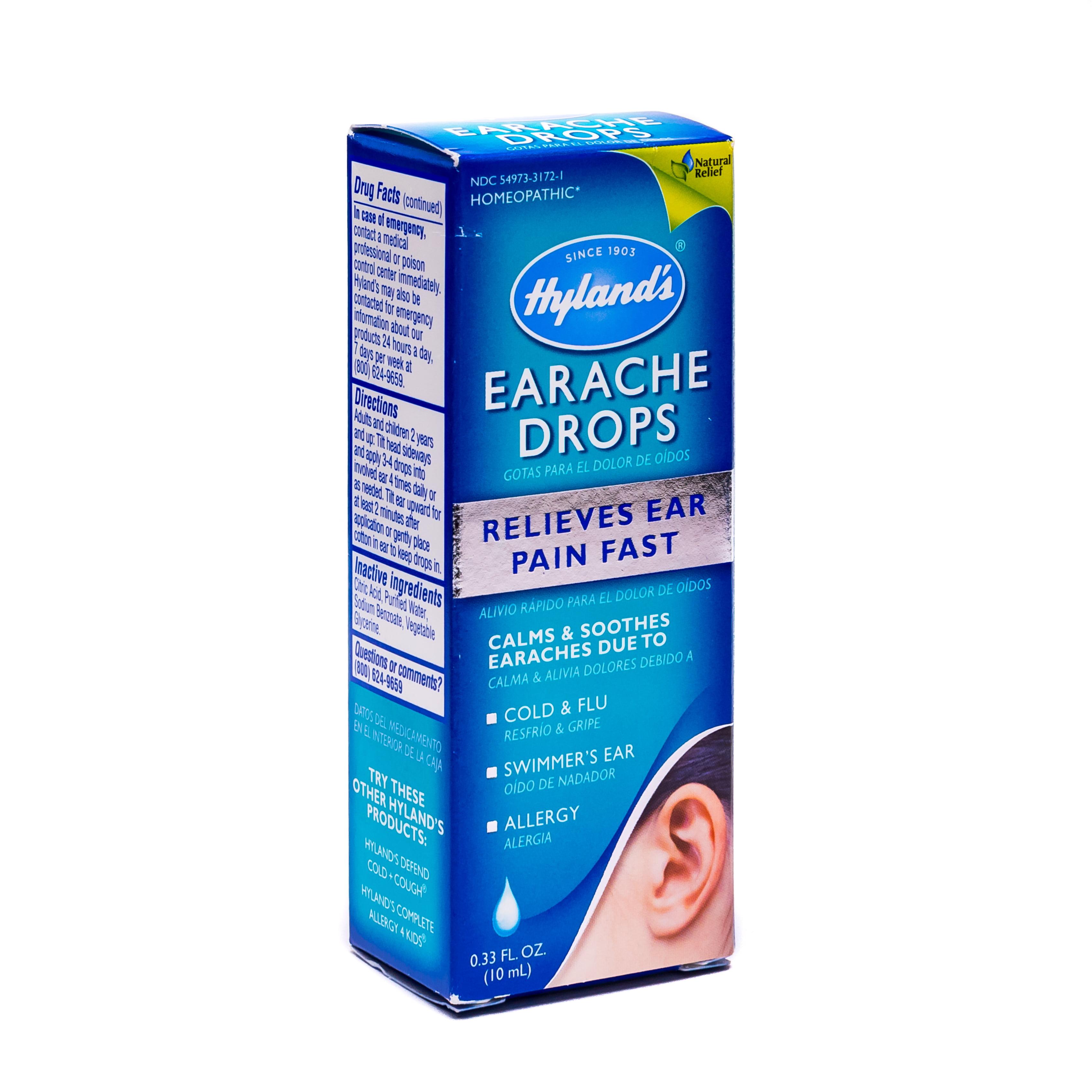 Hyland's Earache Drops, 0.33 Fl Oz