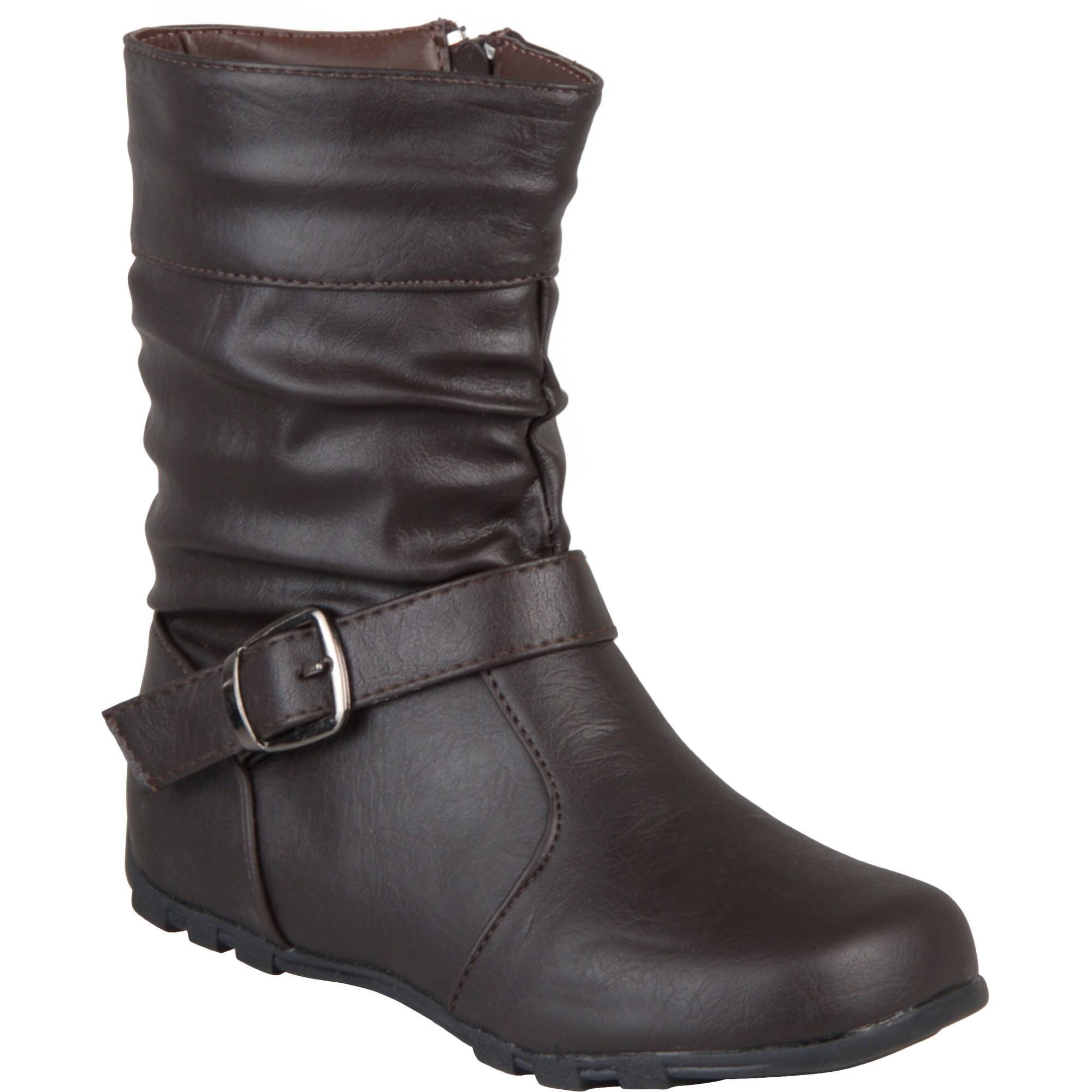 Brinley Co Girls' Slouchy Accent Mid-calf Boots