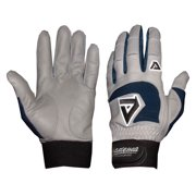 Professional Batting Gloves in Gray and Navy (Medium)