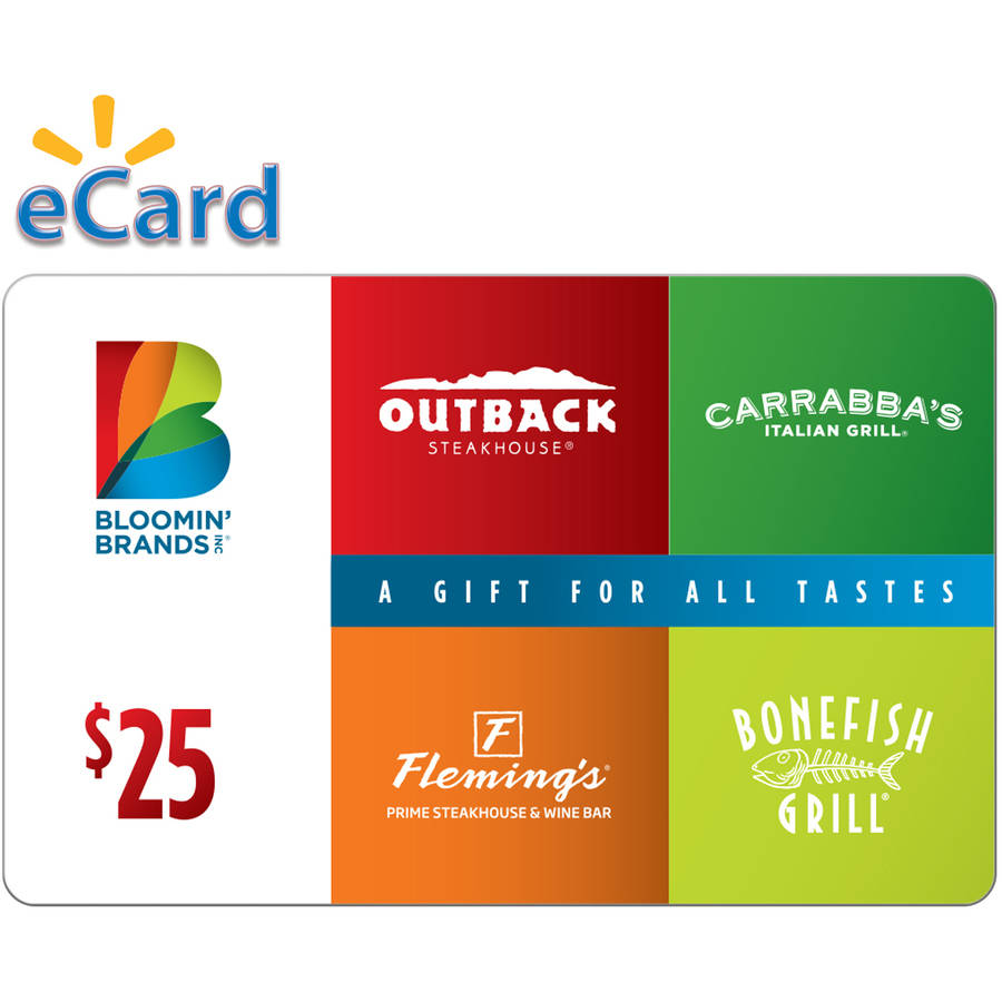 Bloomin Brands $25 (Email Delivery)