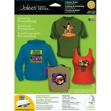 Jolees Easy Image Transfer Sheet, Dark 5 pack (Transfer Pack)