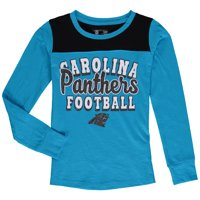 Product Image Carolina Panthers 5th   Ocean by New Era Girls Youth Glitter  Football Long Sleeve T- 3c2d7c746