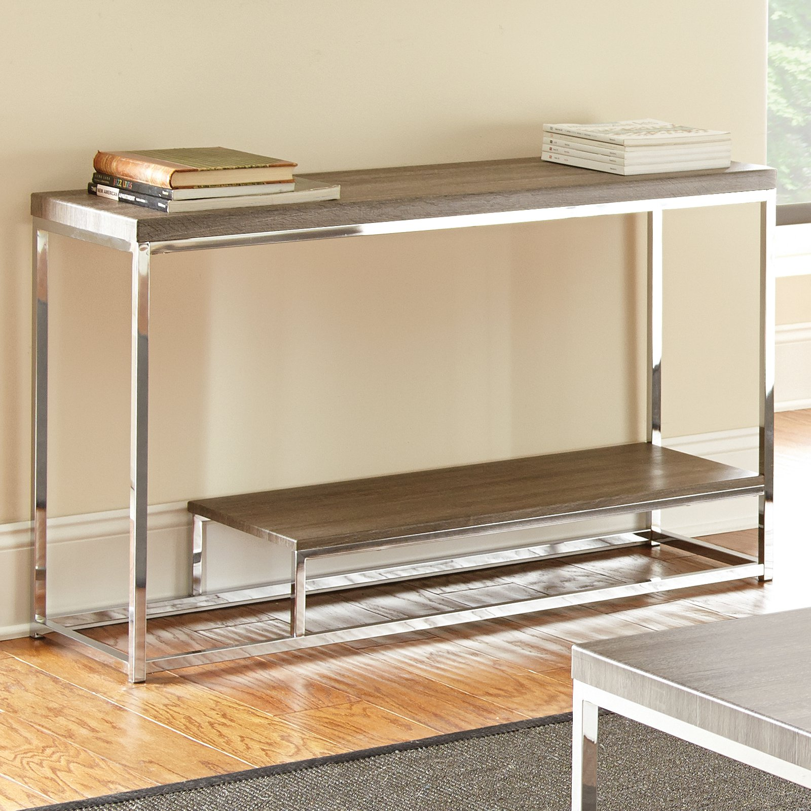 Lucia Sofa Table, Gray/Brown