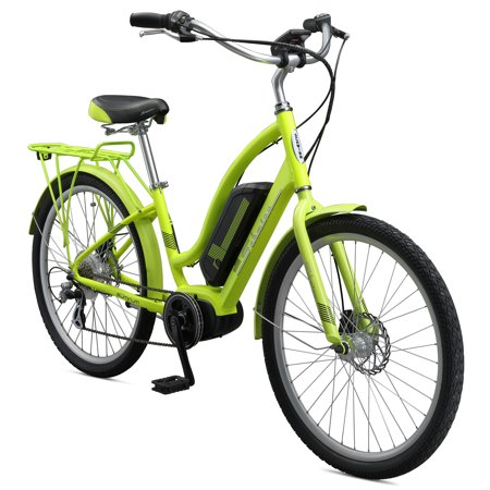 6e8d1dfbbe5 Schwinn Constance 250 Watt 7-Speed Mid Drive Cruiser Electric Bicycle,  Yellow - Walmart.com