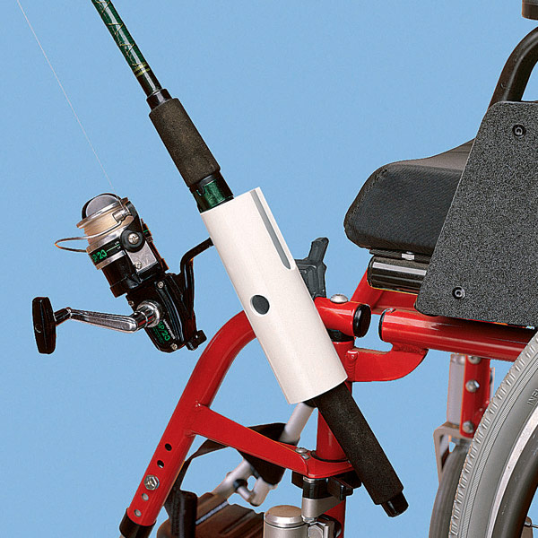 Fishing Pole Holder for Wheelchairs
