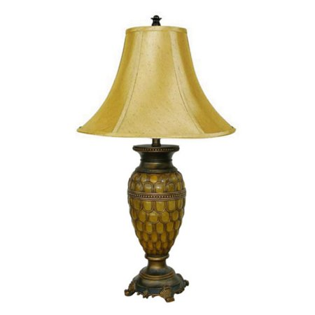 ORE International Classic Table Lamp, Honey