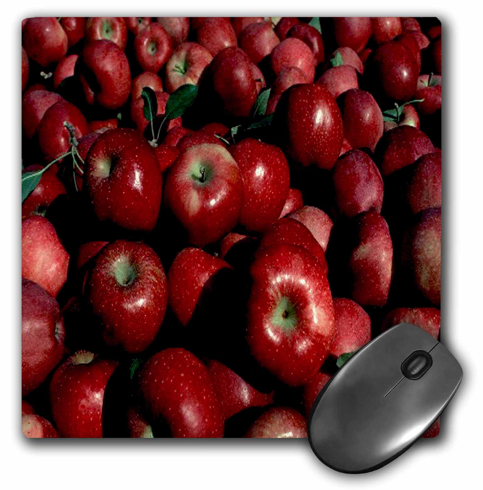 3dRose Red Apples, Mouse Pad, 8 by 8 inches