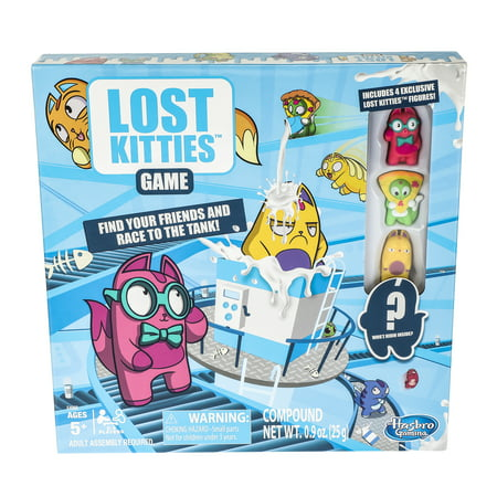 Lost Kitties Board Game With Exclusive Figures Ages 5 and Up - Halloween Kitty Games