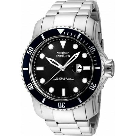 Men's 15075 Pro Diver Quartz 3 Hand Black Dial Watch