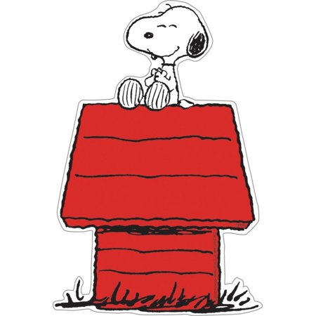 Eureka Peanuts 5-Inch Paper Cut-Outs, Snoopy on Dog House, Package of 36 (841227), Paper Cut-Outs are perfect to decorate a classroom or child's room, write spelling.., By Eureka School (Decorate A Classroom)