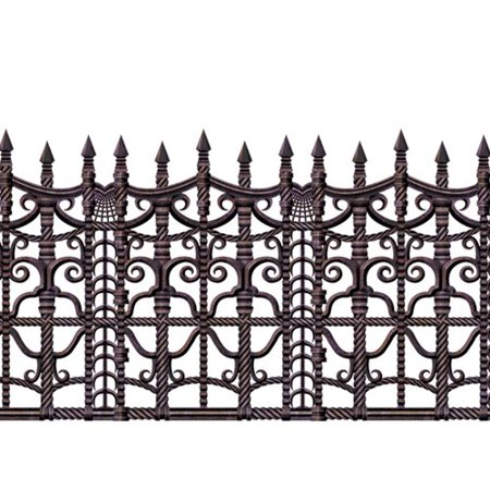 The Holiday Aisle Halloween Creepy Fence Border (Creepy Smile Halloween)