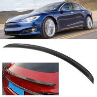 YLSHRF OE Style Carbon Fiber Car Exterior Modification Rear Wing Fit for Tesla Model S, OE Style Rear Wing, Car Rear Wing