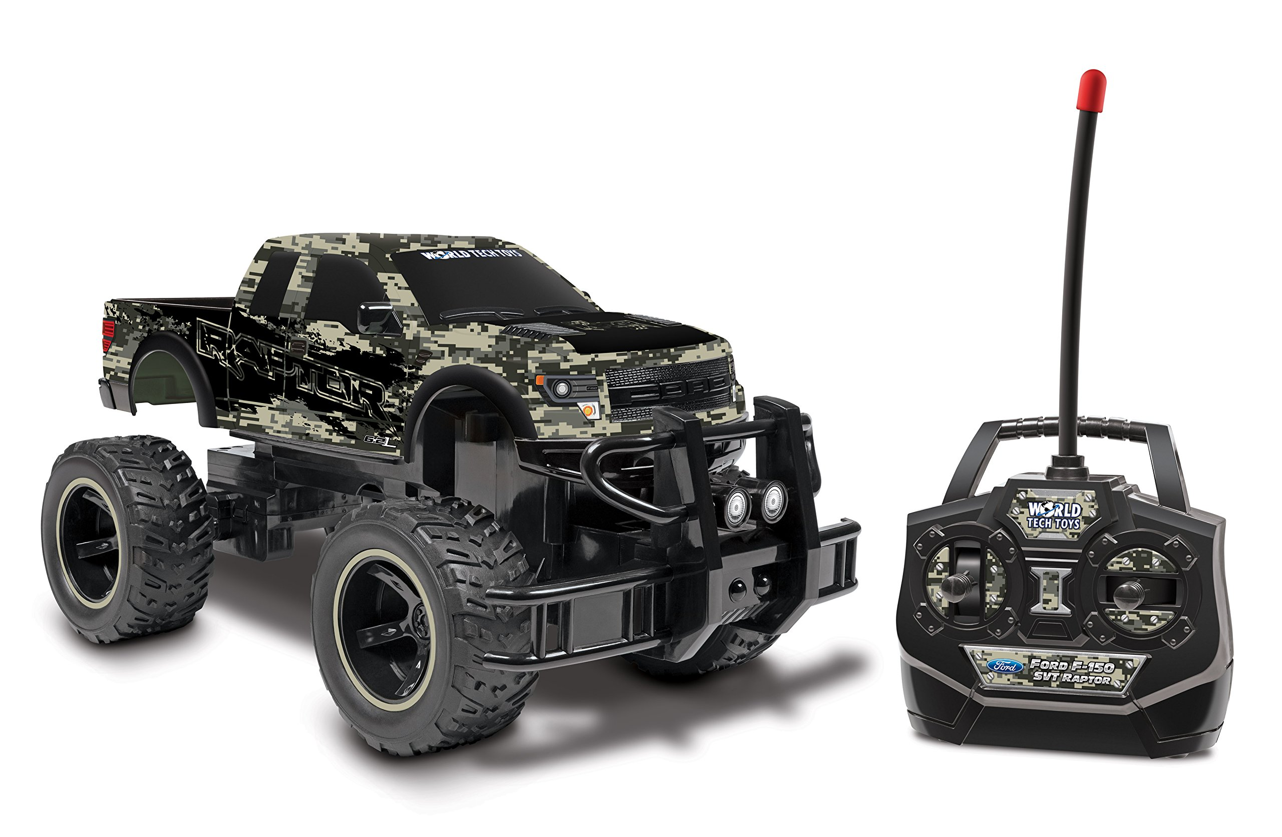 Digital Camo 1:24 Licensed Ford F-150 SVT Raptor RC Truck by World Tech Toys