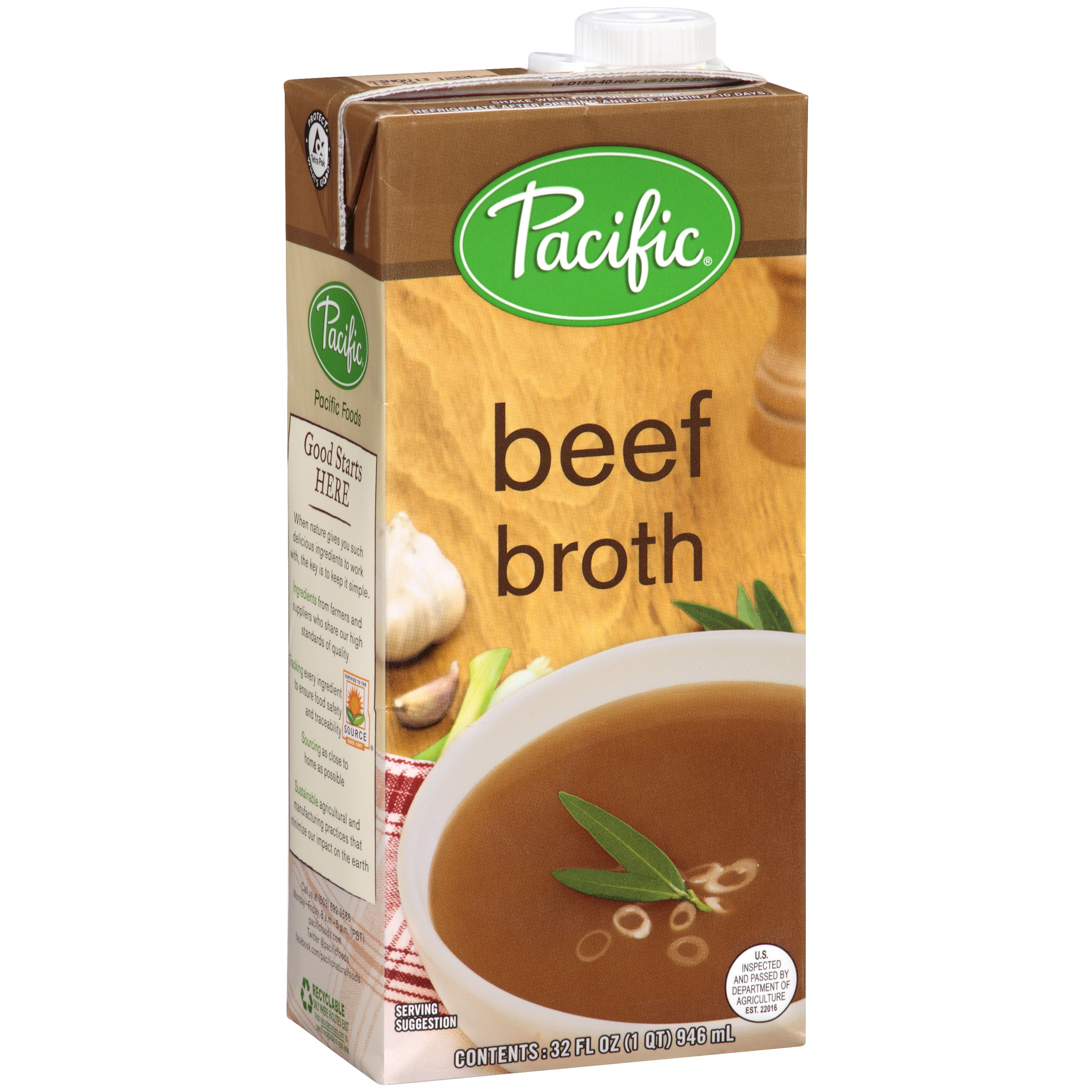 Pacific Natural Foods® Beef Broth 12-32 fl. oz. Cartons