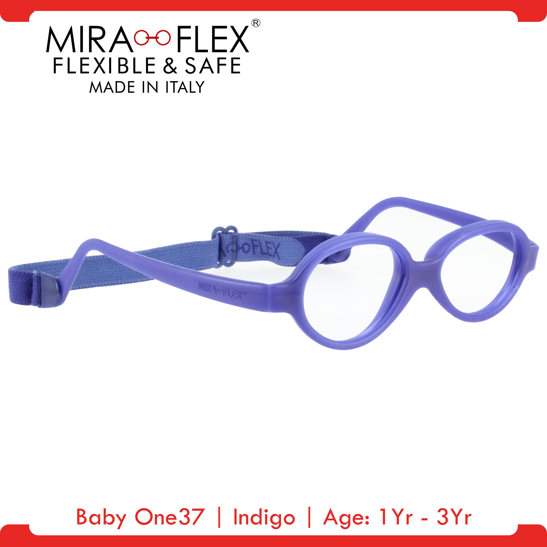 Miraflex Baby One37 Unbreakable Kids Eyeglass Frames 37 14 Indigo Age 1yr 3yr