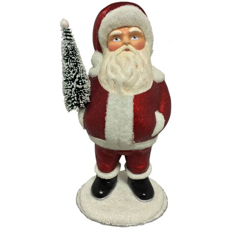 Ino Schaller Belly of Sweets Santa German Christmas Paper Mache Candy Container